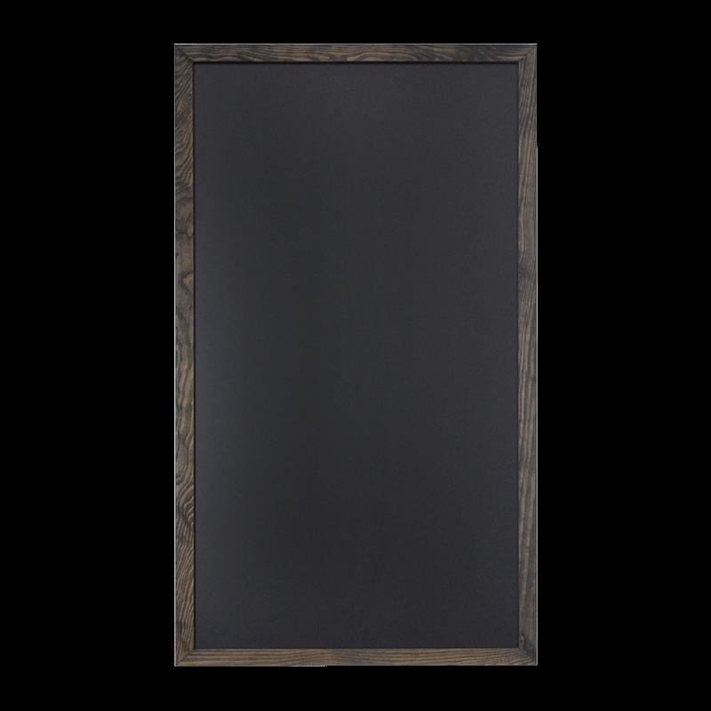 kreidetafel mit rahmen aus holz teakbraun schwarz. Black Bedroom Furniture Sets. Home Design Ideas