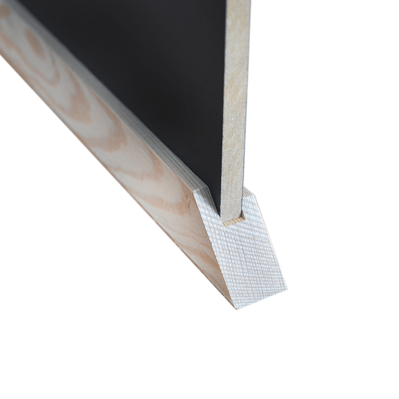 kreidetafel braun 100 x 55 cm mit rahmen aus holz. Black Bedroom Furniture Sets. Home Design Ideas
