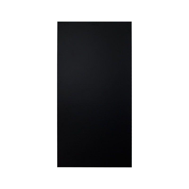 wetterfeste kreidetafel 6mm kunstharz schwarz 90 x 45 cm mit wandabstandhalter. Black Bedroom Furniture Sets. Home Design Ideas